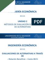 B-C EVALUACION DE DOS PROYECTOS DE VIDAS IGUALES Y DESIGUALES