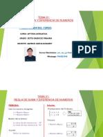 REGLA DE SUMA Y DIFERENCIA (6°)