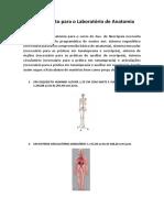 Investimento para o Laboratório de Anatomia
