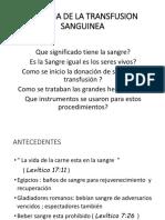 CLASE 01 - HISTORIA DE LA TRANSFUSION SANGUINEA
