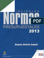 Principales Normas Presupuestales (1)