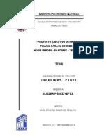 PROYECTO EJECUTIVO DE DRENAJE PLUVIAL PARA EL CORREDOR INDIOS VERDES ECATEPEC TECAMAC.pdf
