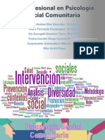 Rol del profesional de Psiologia social Comunitaria 2