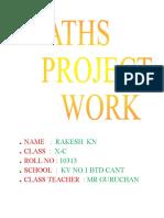 Math Project Work