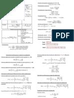 Fórmulas de Estadística - S1