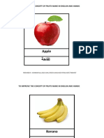 Fruits name in Arabic and English