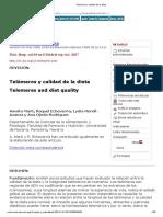 Telómeros y calidad de la dieta