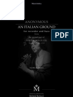 """""""An Italian Ground""""     for Recorder and Bass"""