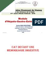 CAT devant une Hemorragie digestive Haute