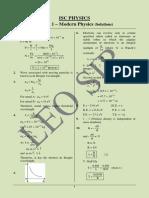 2017 - 12 (29.11) Prelim 1 - Modern Physics (Sol.) XII