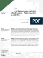 116-18-Prévention des accidents électriques - Présentation générale