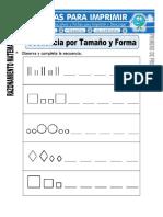 Ficha de Secuencia Por Tamaño y Forma Para Primero de Primaria