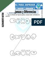 Ficha de Semejanzas y Diferencias Para Primero de Primaria 1