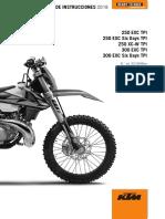 manual ktm 250- 350 exc tpi