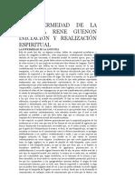 LA ENFERMEDAD DE LA ANGUSTIA RENE GUENON INICIACIÓN Y REALIZACIÓN ESPIRITUAL.doc