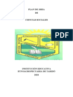 PLAN DE ÁREA CIENCIAS SOCIALES 2020 -