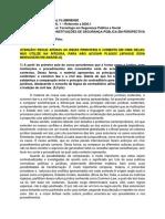 GABARITO 1 - MODELOS E INSTITUIÇOES