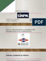 Actividad III, Organos jurisdiccion inmob. y comp.