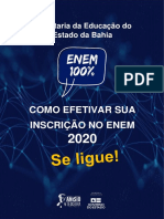 Tutorial de inscrição no Enem 2020