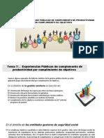 Tema 7-Experiencia Pública de Complemento de Productividad Por Cumplimiento de Objetivos