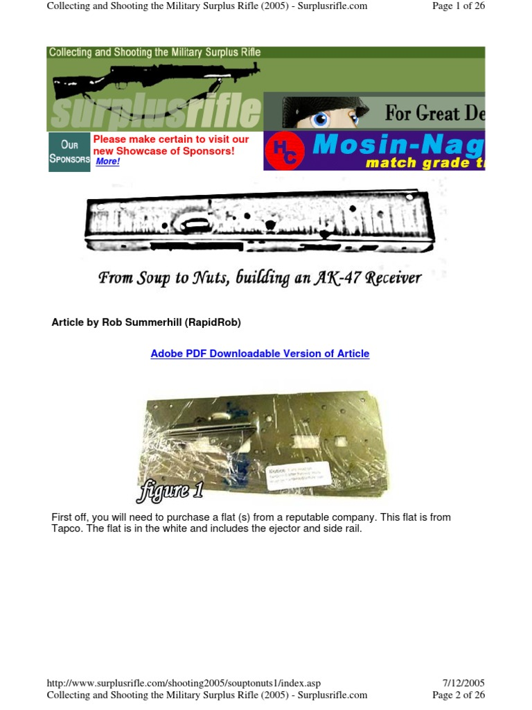 Building an AK-47 Receiver1   Rifle   Structural Steel