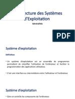1_Architecture des systèmes d'exploitation -