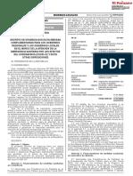 DECRETO DE URGENCIA 057-2020