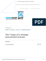 The 7 steps of a strategic procurement process - Trade Ready