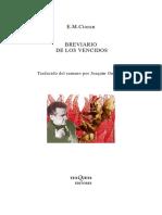 CIORAN - Breviario de Los Vencidos