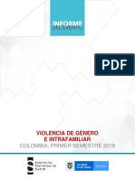 VIOLENCIA DE GÉNERO E INTRAFAMILIAR SEMESTRE I 2019