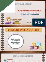 CONCURRENCIA VOCÁLICA