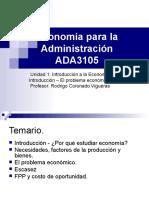 ADA3106- Unidad  1 - 1 - El problema económico