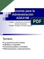 ADA3106- Unidad  1 - 2 - Ciencia Económica