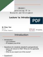 Lecture 1a - Introduction (Case Studies)