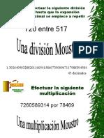 36 Multiplicación y División Moustro