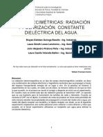 Lab. 4. ONDAS DECIMÉTRICAS. Radiación y polarización. Constande dielpectrica del agua.