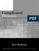 (Suny Series in Contemporary Continental Philosophy) Jussi Backman-Complicated Presence_ Heidegger and the Postmetaphysical Unity of Being-State University of New York Press (2015).pdf