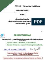 MR6120 NR7120 - aula ML02 - 014 a 032 Recristalização e TG