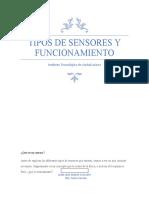 Tipos de sensores y funcionamiento1