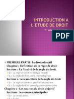 INTRODUCTION 0 L'ETUDE DE DROIT