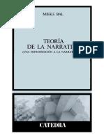 Mieke Bal - Teoría de la narrativa (una introducción a la narratología) (fragmento) (1)