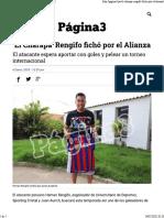 'El Charapa' Rengifo Fichó Por El Alianza - Página3