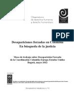 Desaparición Forzada en Colombia. En búsqueda de la justicia