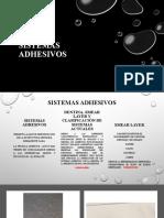 Sistemas adhesivos presentacion