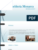Proyecto de finanzas de Mueblería Monarca