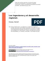 Panaia, Martaº (2014). Los ingenieros y el desarrollo regional