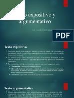 Texto expositivo y Texto argumentativo