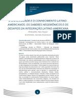 A Universidade e o conhecimento latino-americanos