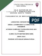 El mercado y su relación con el INCO y PROFECO_Calixto Martinez Maria Isabel