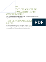 DIAGNOSTICO CANCER  ALA PIEL